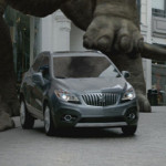 The new Buick Encore seems to have fallen into a fantastic Jurassic city